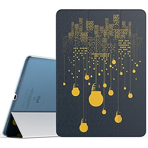 MoKo iPad Pro 9.7 Funda - Ultra Slim Función de Soporte Protectora Plegable Smart Cover Trasera Transparente Durable (Auto Sueño / Estela) Para Apple iPad Pro 9.7 2016 Tableta, Noche de la Ciudad