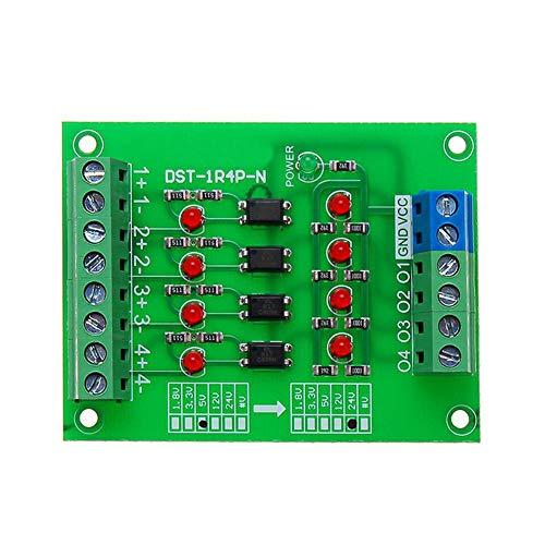 EPNT 4 Kanäle Optokoppler Isolation Board isoliert Modul SPC Signal Level Spannungswandler Board 4 Bit -