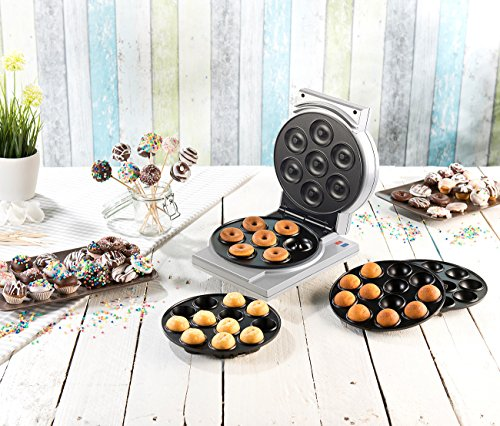 Rosenstein & Söhne Cake Pop Maker: 3in1-Donut-, Cupcake- und Cakepop-Maker