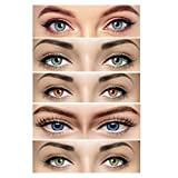 Choice Empire Combo Pack of 5 Pair Monthly Colored Contact Lens Zero Power