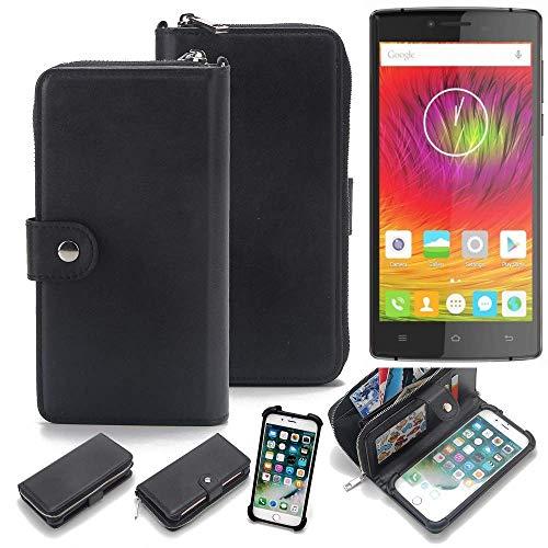 K-S-Trade 2in1 Handyhülle für Cubot S600 Schutzhülle und Portemonnee Schutzhülle Tasche Handytasche Case Etui Geldbörse Wallet Bookstyle Hülle schwarz (1x)