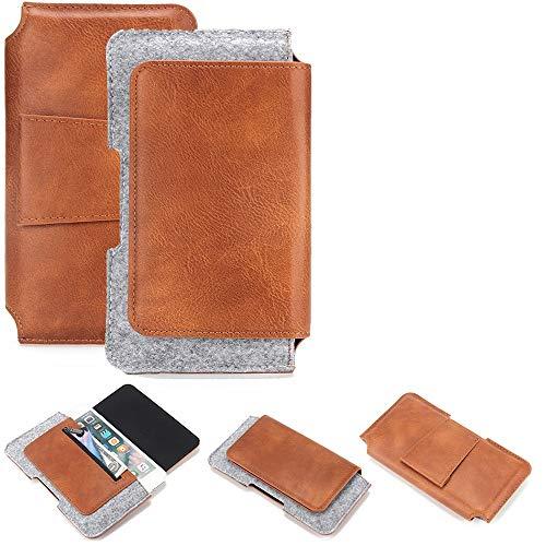 K-S-Trade Gürteltasche für Samsung, Haier, Medion, Huawei, Alcatel, Motorola, Apple, Lenovo, TP-LINK, ZTE, Nokia, Allview, Sony Gürtel Tasche Schutz Hülle Hüfttasche Belt Case Schut