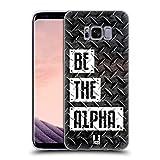 Head Case Designs Be The Alpha Fitness Typographie Soft Gel Hülle für Samsung Galaxy S8
