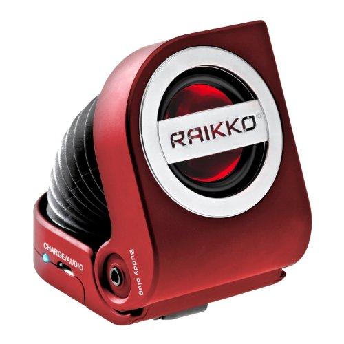 Raikko PUMP mini aktiv Lautsprecher inkl. Akku (3 Watt, micro-USB, 3,5mm Klinke) rot