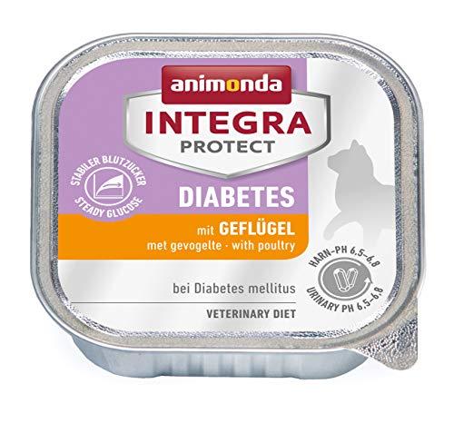animonda Integra Protect Diabetes mit Geflügel | Diät Katzenfutter | Nassfutter bei Diabetes mellitus (16 x 100 g)
