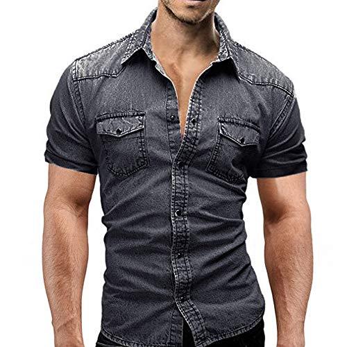 Herren Jeanshemd,Hemden Bluse Tunika für Herren,Jeanshemden Herren Kurzarm Denim Hemden Freizeit Shirts Regular Fit Hemden - Bob Marley-baby-kleidung