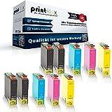 10x Kompatible Tintenpatronen für Epson Expression Home XP 102 XP 202 XP 205 XP 30 XP 302 XP 305 XP 33 XP 400 XP 402 XP 405 , 4x T1811 , 2x T1812 , 2x T1813 , 2x T1814