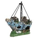 Bobury Castelli Corsair Nave Fish Tank decorazioni acquario Accessori ornamento Cave Paesaggio
