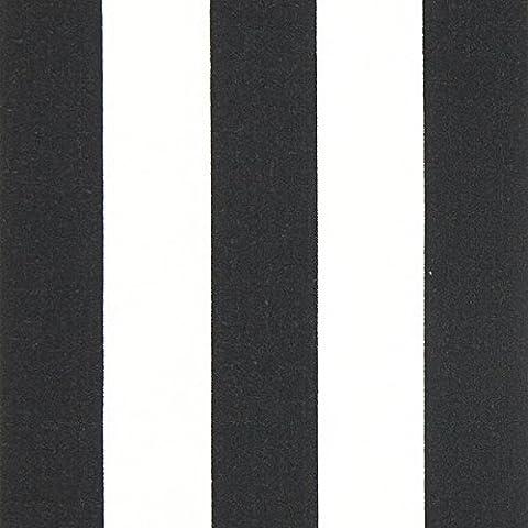 Baumwollstoff breite Streifen – schwarz/weiss — Meterware ab 0,5 m — Oeko-Tex Standard 100 — zum Nähen von Bekleidung, Kissen und Tagesdecken und Tischdekorationen