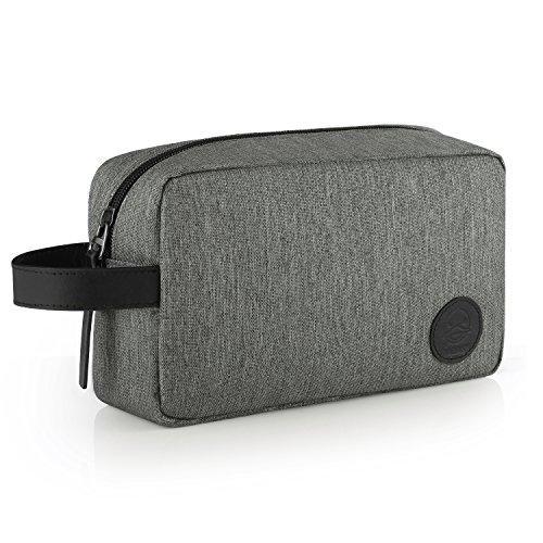 GAGAKU Homme Trousse de Toilette Imperméable Dopp Kit Multifonctions Trousses à Maquillage de Voyage - Gris