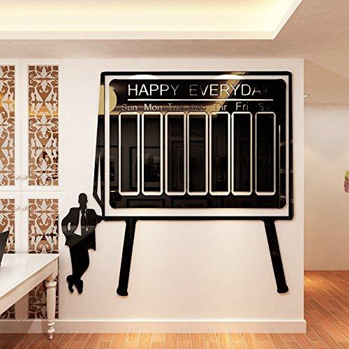 oards und befestigen Sie sie an der Wand des Büros Klassenzimmer Benachrichtigungsleiste Aufkleber Unternehmen Zimmer memo Spalte Plakate, 120*116,1 cm, C (Klassenzimmer Bulletin Boards)