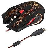 Gaming Mouse, Optische Verdrahtete Ergonomische Mäuse Mit Adjustment DPI 6 Tasten 7 Helle Farben in...