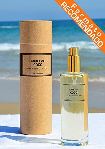 Aceite de COCO Cosmetico 100% Puro [_Dosificador 100 ML_], BIO, 1ª Presion en Frio, para piel y