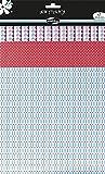 Maildor AD012O - Un paquet Satin stick'Pop 3 feuilles adhésives (21x29,7 cm - 21x26 cm et 21x21 cm) motifs assortis , Grenade