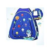 wadwo Tenda da gioco per bambini pop-up, modelli di cartone animato rosa e blu Modellare la casa di sabbia dell'oceano Giocattoli interni ed esterni Tende piccole (non include la palla dell'oceano) -b