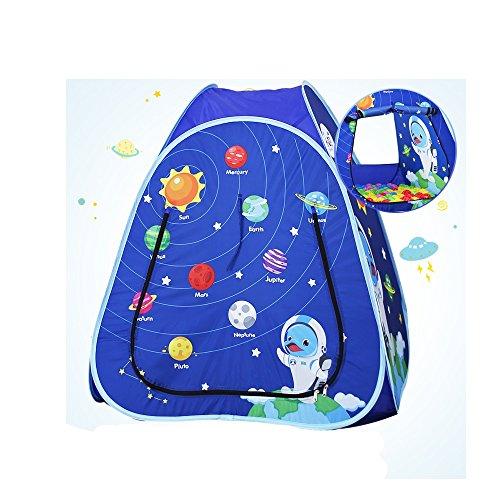 Wadwo Pop-up Kinder Spielzelt, rosa und blau Cartoon-Muster Modellierung Ocean Ball House Indoor-und Outdoor-Spielzeug Kleine Zelte (Nicht enthalten Ocean Ball) -by Virtper (Farbe : Blau)