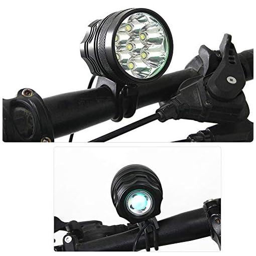 TANSUO luci LED per Bici,9000 Lumen 7X CREE XM-L T6 LED 3 modalità