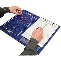 Wollowo - Magnetische Fußball-Taktiktafel mit Stift & Papier - A4-Format