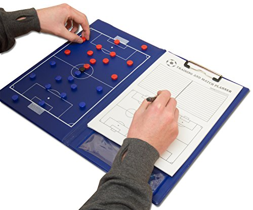 Preisvergleich Produktbild Wollowo - Magnetische Fußball-Taktiktafel mit Stift & Papier - A4-Format