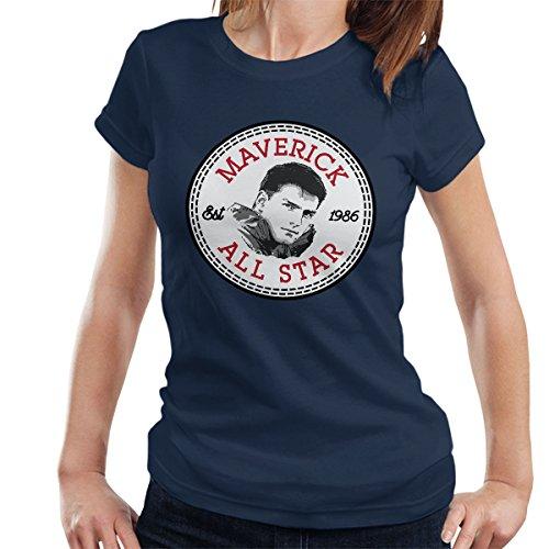 Cloud City 7 Converse Maverick Top Gun All Star Women's T-Shirt - Top-gun-all Stars
