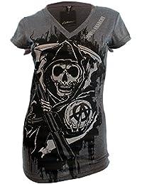 Sons of Anarchy Reaper TShirt - Dark Grey - Small
