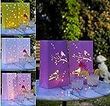 099988WU, 8 Stück Lichttüten, 4 verschiedene Farben, super Tischdekoration zu vielen Anlässen, Hochzeit Party Hochzeitsdeko Papierlaternen, Papiertüten für Teelichter, für innen und außen geeignet