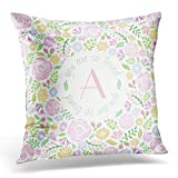 Kissenbezug Throw Pillow Cover Floral Pastel Monogram You Are So Loved Baby Pink Wreath Decorative Pillow Case Home Decor Square Pillowcase