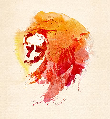 copperprints-robert-farkas-angry-lion-print-only-multicolour