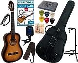 Pack Guitare Classique 4/4 (Adulte) Avec 7 Accessoires (sunburst)