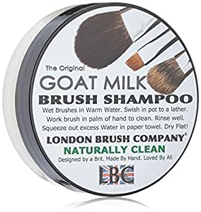 London Brush Company Pure Goat Milk Solid Brush Shampoo Naturally Clean, 28g