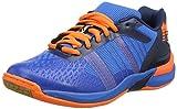 Kempa ATTACK THREE CONTENDER, Chaussures de Handball homme - Bleu (Bleu Energie/Bleu Marine/Orange Fluo Bleu Energie/Bleu Marine/Orange Fluo), 45 EU (10.5 UK)