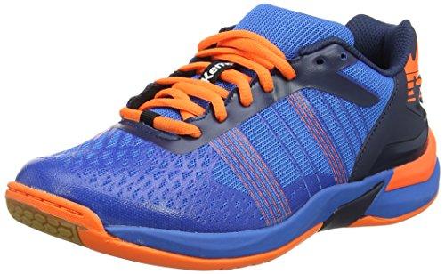 Orange Canvas Schuhe (Kempa ATTACK THREE CONTENDER, Herren Handballschuhe, Blau (Bleu Energie/Bleu Marine/Orange Fluo), 46 EU)