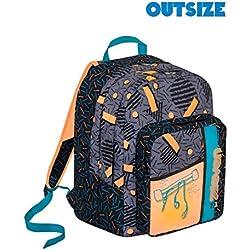 Zaino scuola Outsize SEVEN - SWAG BOY - Arancione Nero - 33 LT - inserti rifrangenti