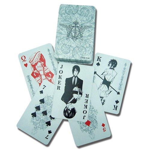 Black Butler 52 Blatt Spielkarten Orginal & Lizensiert (Kostüm Black Butler)