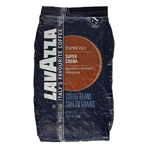 Lavazza Espresso Super Crema, Caffè in Grani, 3x 1000g