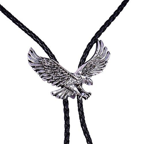 masop-american-symbol-pride-eagle-bolo-tie-vintage-style-silver-tone-mens-jewelry-western-cowboy