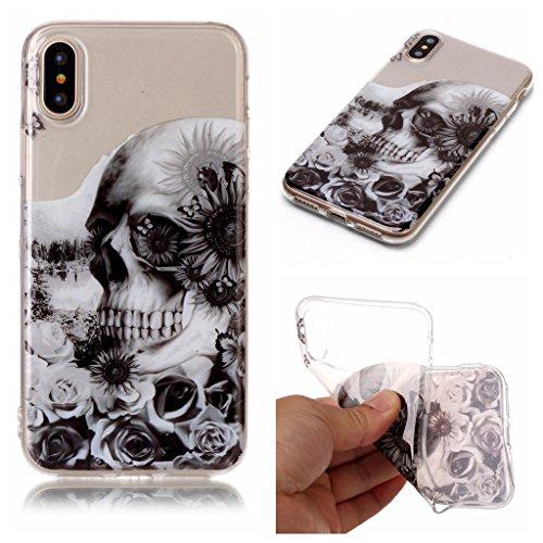 """Hülle für Apple iPhone X , IJIA Transparent Schmetterling Blumen TPU Weich Silikon Stoßkasten Cover Handyhülle Schutzhülle Handytasche Schale Case Tasche für Apple iPhone X (5.8"""") XS71"""