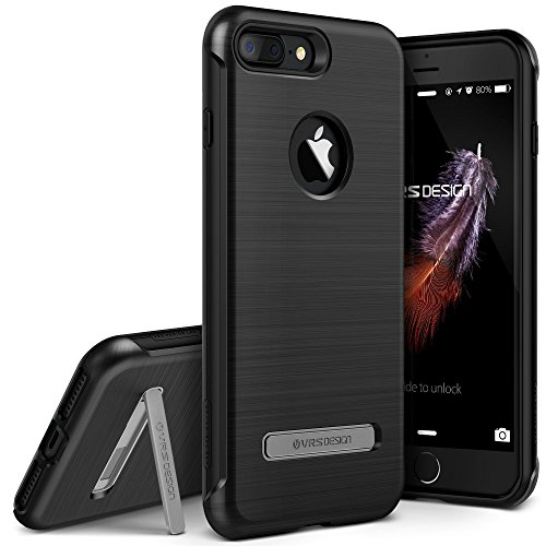 iPhone 7 Plus Case, VRS Design [Duo Guard Series] Heavy Duty Military Grade Protection with Metal Kickstand for Apple iPhone 7 Plus 2016 - Titanium Black