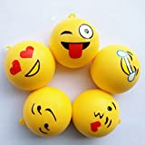 Welecom Squishy Toys,Lovely Slow Rising Squishies Phone Charms,Stress Relief Super Soft Kawaii Expression Face Buns(Random Delivery)