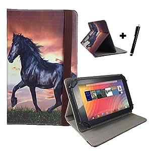 """Cheval coque de protection pour tablette blaupunkt endeavour 101 g avec fonction support 10,1 """"motif cheval"""
