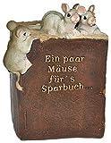 Unbekannt Spardose -  Ein Paar Mäuse für´s Sparbuch  - Stabile Sparbüchse aus Kunstharz - Maus Geld Sparschwein / Kohle Käse Lustig Witzig