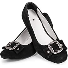 74d45029db3345 Bongossi-Trade Damen Trachtenschuhe schwarz mit Absatz Gr. 37-41