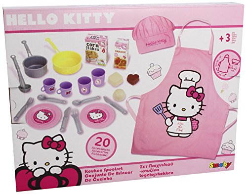 Hello Kitty 24629 - Set De Cocina 25 Acc. (Smoby)