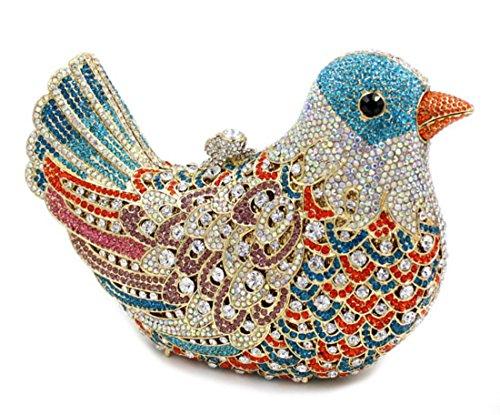 XYXM Frauen Kupplung Luxus Diamant Birdie Dinner Tasche High End benutzerdefinierte Griff Tasche Diamant Tasche Kleid Pack color 2