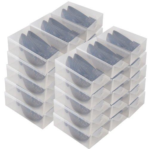 DynaSun 16154 30x PP368T Lot de 30 boîtes à chaussures Transparent
