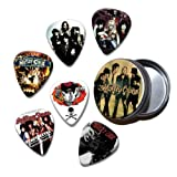 Motley Crue Set of 6 Loose Guitar Médiators in Tin ( Collection C )