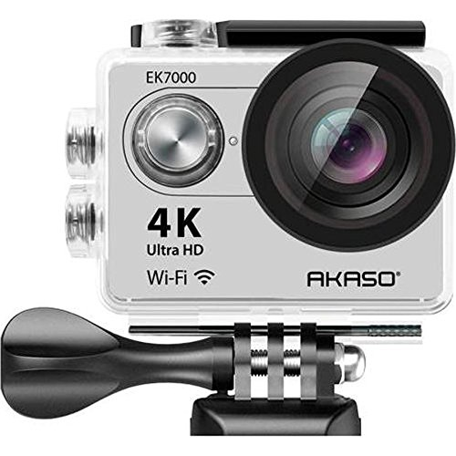 AKASO EK7000SL Wi Fi Ultra HD Waterproof Sports Action Camera  Sage/Silver  Action Cameras