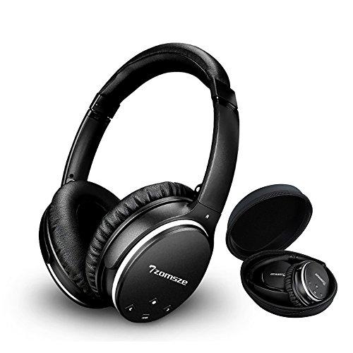 Active Noise Cancelling cuffie tzomsze Wireless Bluetooth Over Auricolari Stereo Headset Per Sport/ufficio/Aereo/Viaggio con microfono cinturino cavo & Borsa per il trasporto-Nero, Bluetooth Kopfhör Bluetooth Kopfhörer-Schwarz