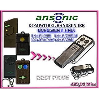 ANSONIC SA434-1mini / SA434-1mini M / SA434-2mini M / SA434-2midi kompatibel handsender, klone fernbedienung, 4-kanal 433,92Mhz fixed code. Top Qualität Kopiergerät!!!