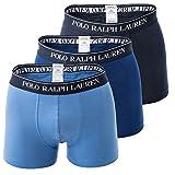 Polo Ralph Lauren Herren 3-Pack Unterhosen, Blau, Large